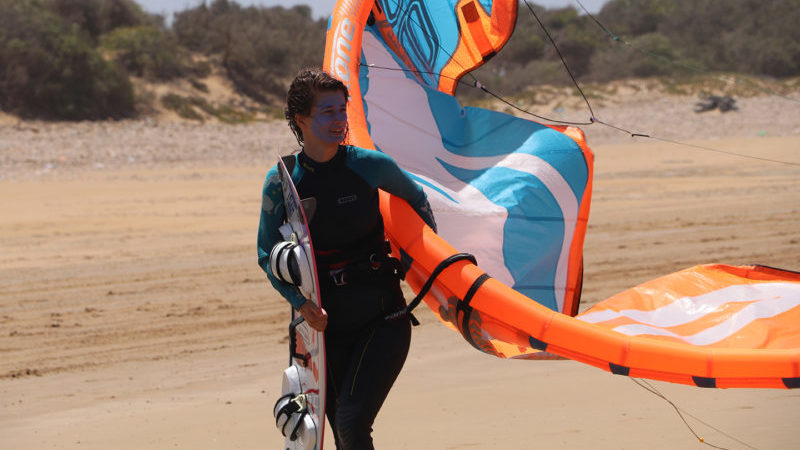 Kitesurf equipment rental Essaouira Morocco loving surf school